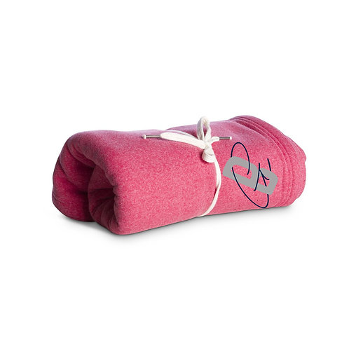 GrappleBetty Fleece Tournament Blanket Pomegranite