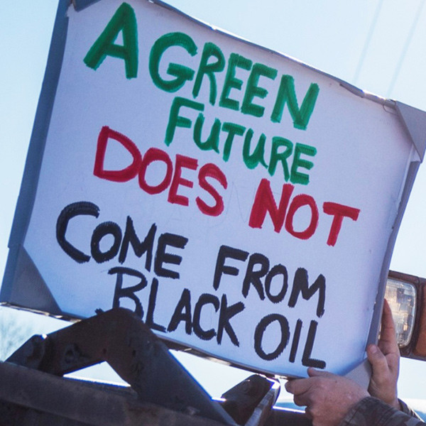 a green future does not come from black oil
