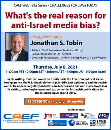 CILR SUPPORTS CAEF'S WEB TALK: What's the real reason for anti-Israel media bias?