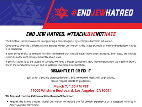 CILR is a Proud Partner, and Co-Sponsor of End Jew Hatred: #TeachLoveNotHate