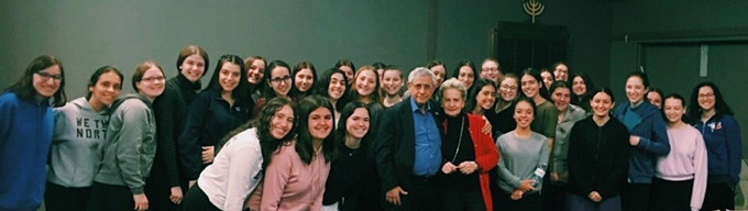 Class of Uppnat Orot, with Dr. Mordechai Kedar, seen also Pearl Kraft of Hasbara Fellowships, and Goldi Steiner