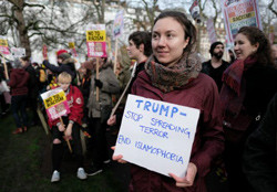 Stop spreading Islamophobia protestor