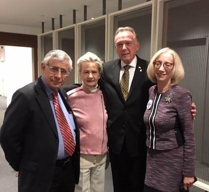 L-R: Dr. Mordechai Kedar, Goldi Steiner, Hon. Peter Kent, PC.,M.P. Andria Spindel