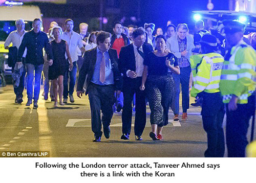 Following the London terror attack, Tanveer Ahmed says there is a link with the Koran