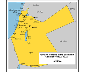 Palestine Mandate at the San Remo Conference