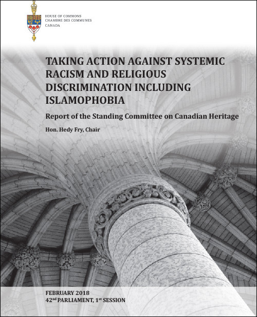 Heritage Committee Report on Motion M-103 and Islamophobia