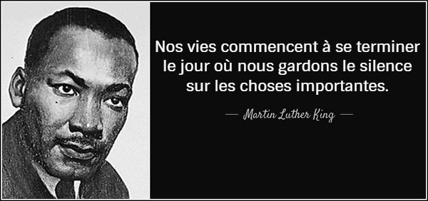 Martin Luther King quote francais