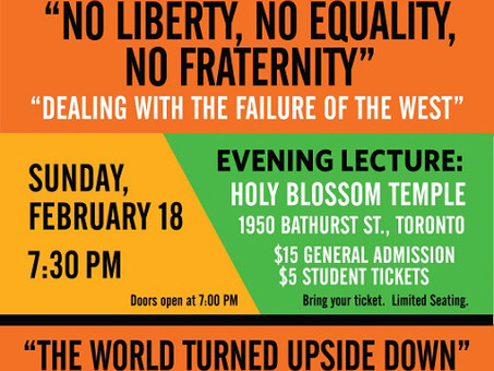 Melanie Phillips at Holy Blossom on February 18th