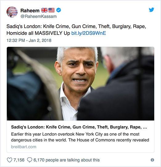 Raheem Kassam tweet