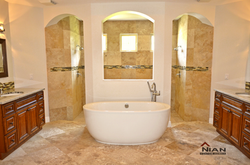 Double Entry Lux Shower with Roman Tub