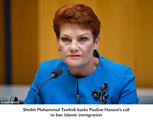 Sheikh Mohammad Tawhidi backs Pauline Hanson's call to ban Islamic immigration