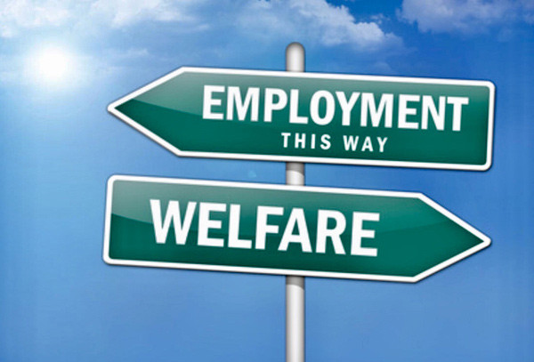 Employment this way - or welfare