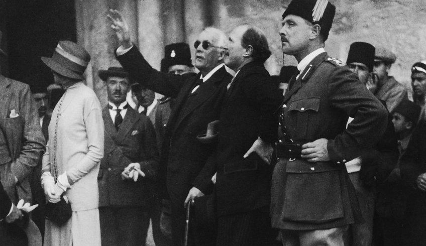 British Lord Arthur Balfour in Jerusalem in 1925.