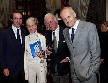 (L-R): Jose Maria Aznar, Goldi Steiner, Salomon Benzimra, Tomas Sandell