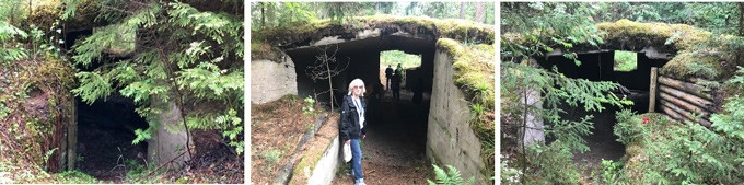 Caves that held hundreds of Jewish Partisan fighters outside Vilna during WWII