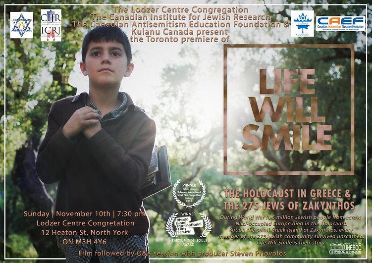 Life Will Smile Poster - Toronto Premier