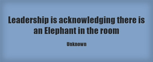 Leadership is acknowledging there is an Elephant in the room