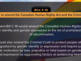 Bill C-16 now endangers your Charter Rights to freedom of conscience