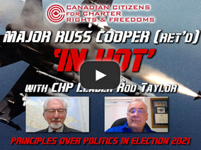 Major Russ Cooper (Ret'd) 'In Hot' with CHP leader, Rod Taylor
