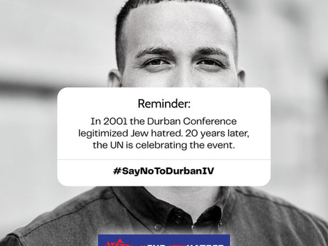 Campaign to Stop Durban IV. Share these images on social media