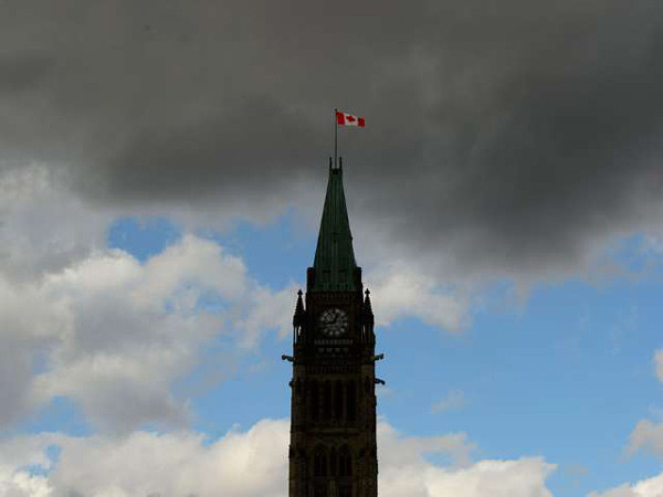 The Peace Tower is seen on Parliament Hill in Ottawa on Oct. 23, 2019.