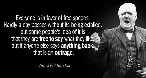Churchill quote: Free speech