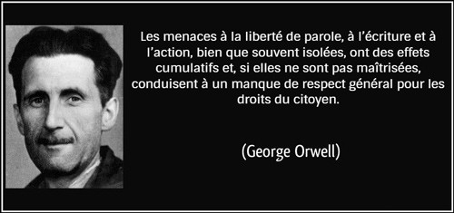 George Orwell quote - francais