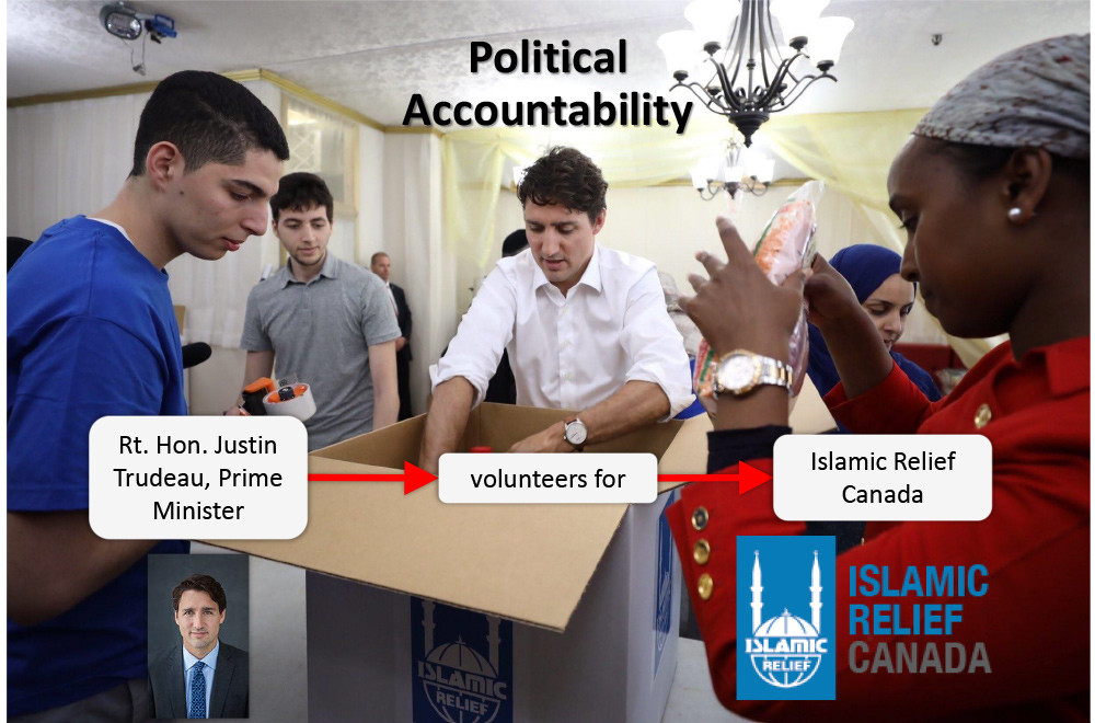 Political Accountability - Justin Trudeau volunteering for Islamic Relief Canada