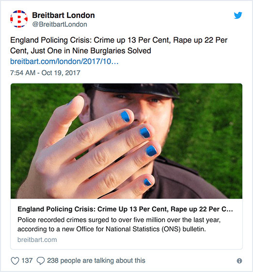 Breitbart London tweet