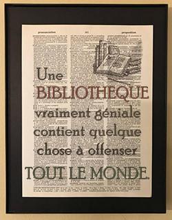 Une BIBLIOTHEQUE vraiment géniale contient quelque chose à offenser TOUT LE MONDE.