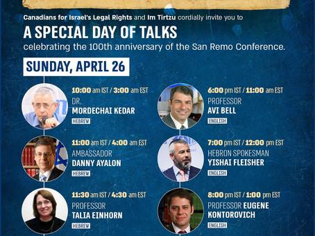 San Remo Conference Centennial