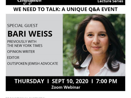 Proud Unapologetic Zionism - CAEF Bulletin Sept 5, 2020