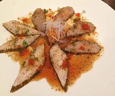 Hawaiian swordfish carpaccio