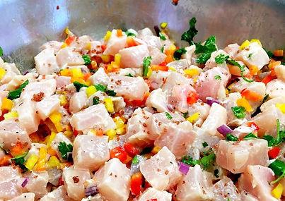 Hawaiian Marlin (kajiki) Ceviche