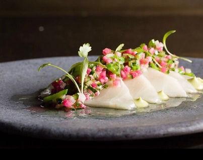 Fresh walu sashimi