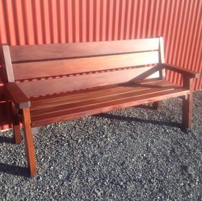 Swamp Totara Outdoor 3-Seater $985. Macrocarpa $825.