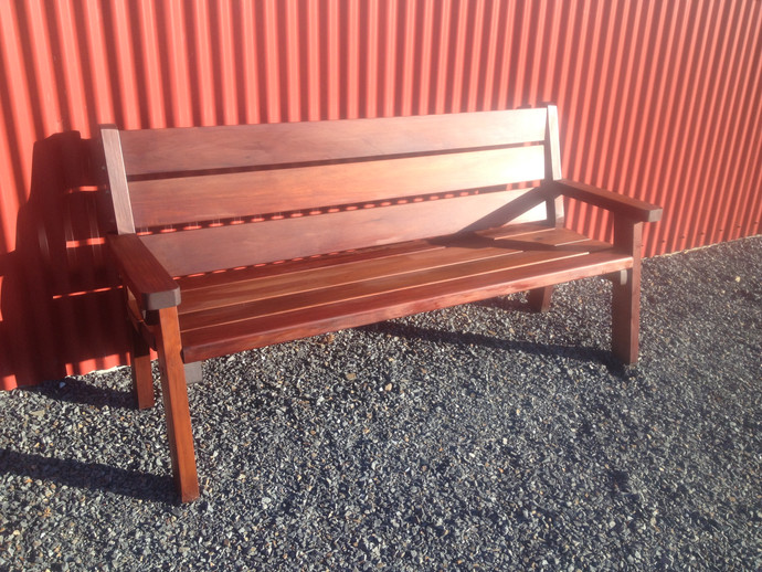 Recycled or Swamp Totara Outdoor 3-Seater $1025. Macrocarpa $925.