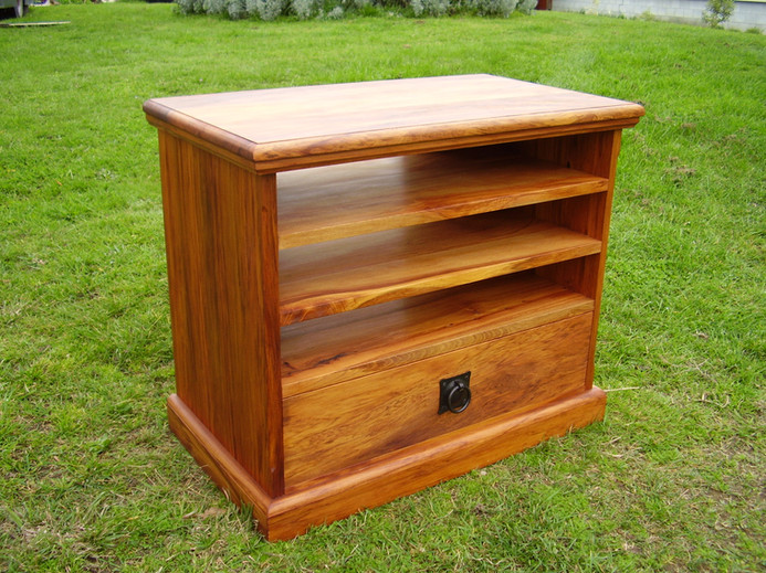Recycled Rimu Entertainment unit 2 Adjustable Shelves 1000L 420D 665H $1295. Other species and sizes on request.