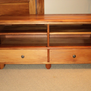 Recycled Rimu Entertainment unit 1300L 420D 535H $1685. Other species and sizes on request.