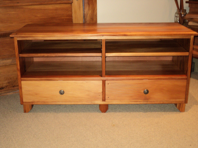 Recycled Rimu Entertainment unit 1300L 420D 535H $1785. Other species and sizes on request.