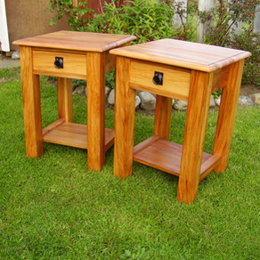 Recycled Rimu bedside Tables with drawer and shelf 600H 430x430 $945 pair. Other sizes on request.