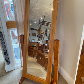 Recycled Rimu Tilting Mirror $645. Other species available on request.