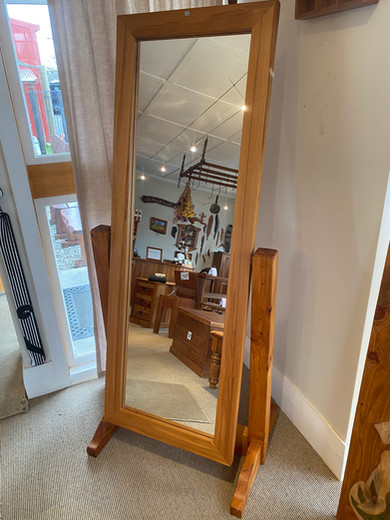 Recycled Rimu Tilting Mirror $685. Other species available on request.