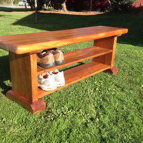 Recycled Rimu Seat/Shoe Rack 1200Lx300Dx450H $585. Other sizes and species available.