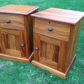 Recycled Rimu Bedside Cabinets Adjustable Shelf Behind Door 600H 430x430 $1395 pair. Other sizes on request.