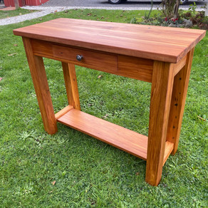 Recycled Rimu Hall Table with Drawer and Shelf. Varies 700-1000L 730H $625 $885. Other sizes, Price on Application.