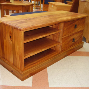Recycled Rimu Entertainment unit 1300L 420D 450H $1685. Other species and sizes on request.