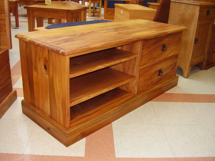 Recycled Rimu Entertainment unit 1300L 420D 450H $1785. Other species and sizes on request.