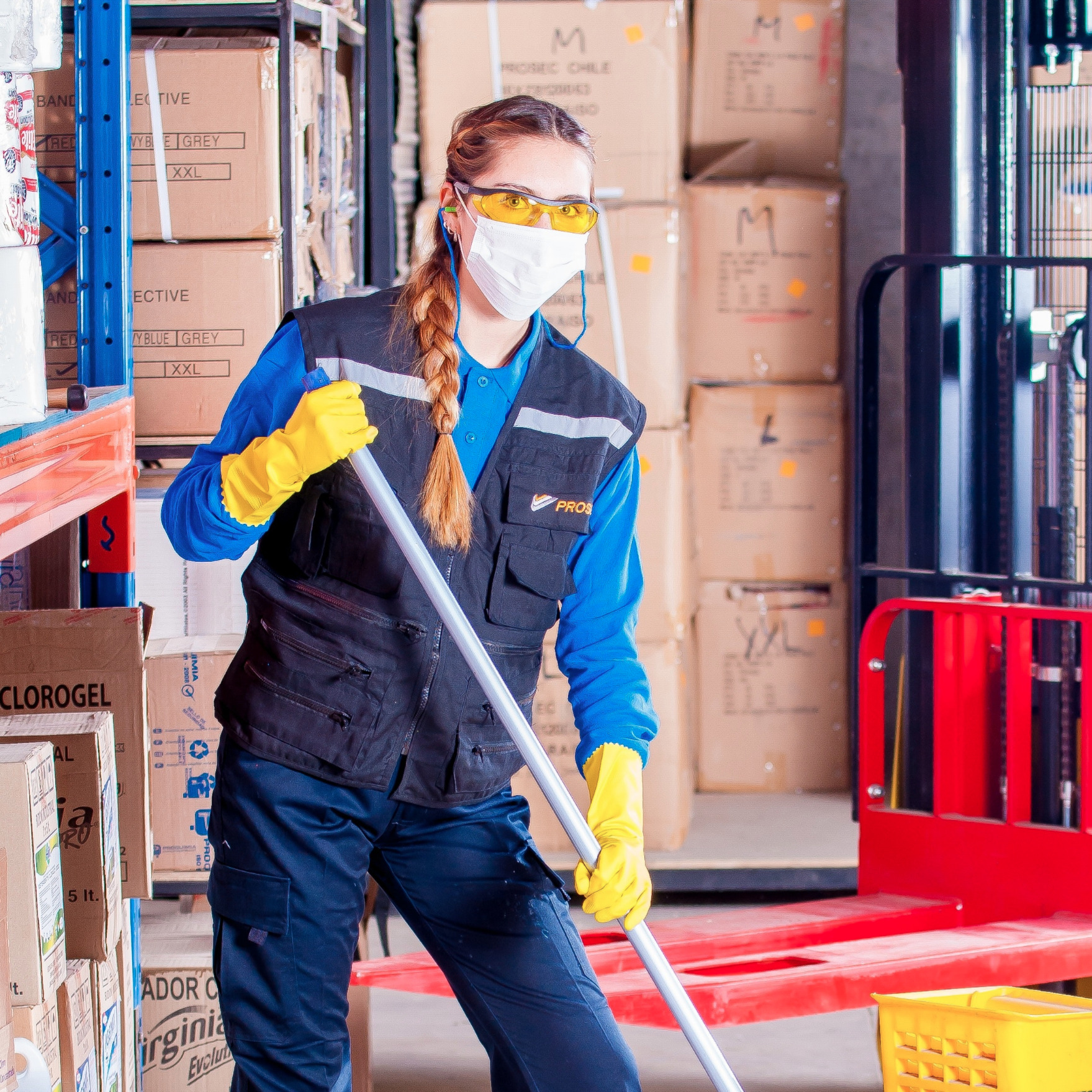 warehouse cleaning
