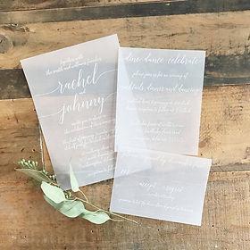 velum wedding invitation